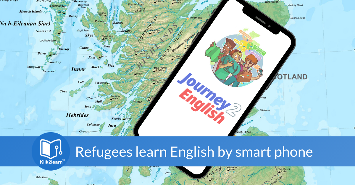 Helping refugees to learn English by mobile phone