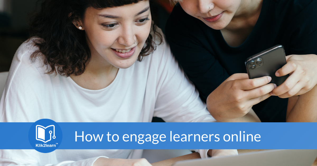 The importance of engaging learners online