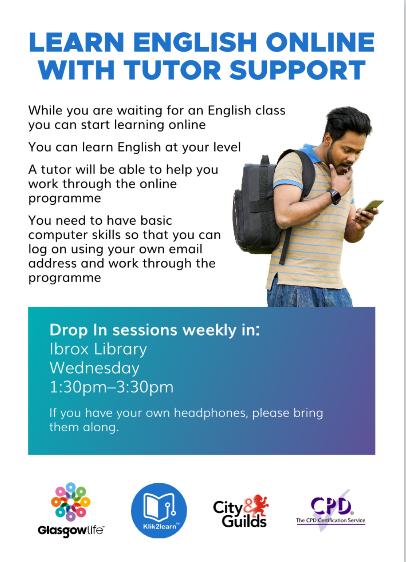 English Language Drop In Glasgow