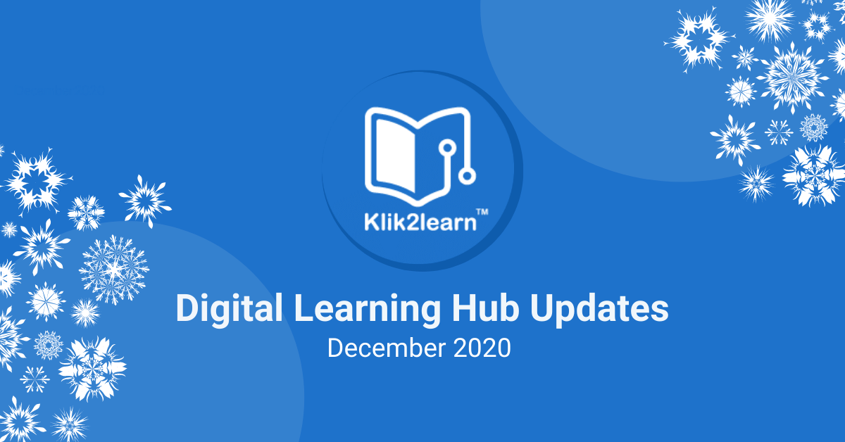 Digital Learning Hub Update Dec 2020