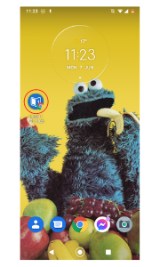 See on android home screen