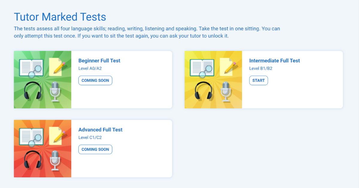 New: Intermediate English Skills Test