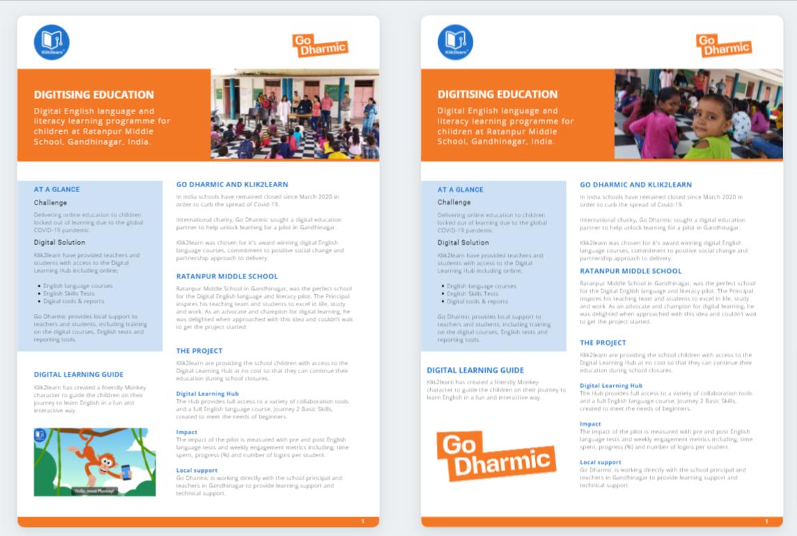 Digitising Education Pilot India