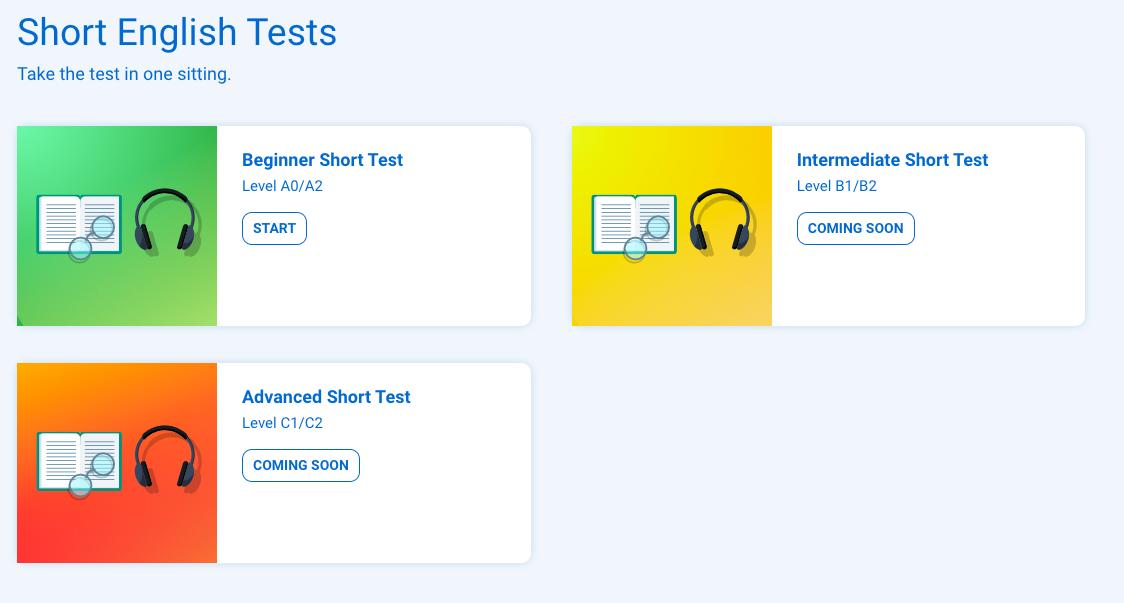 Short English Skills Test