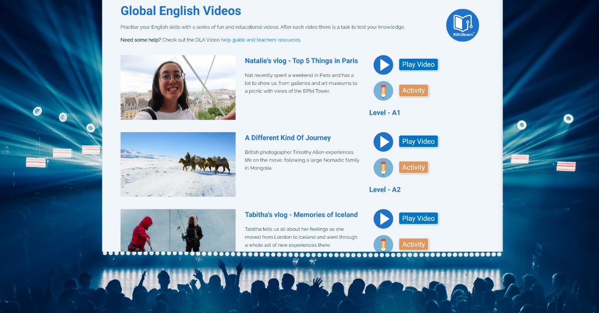 Videos for English language learners